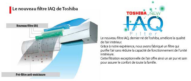 Filtration climatiseurs toshiba