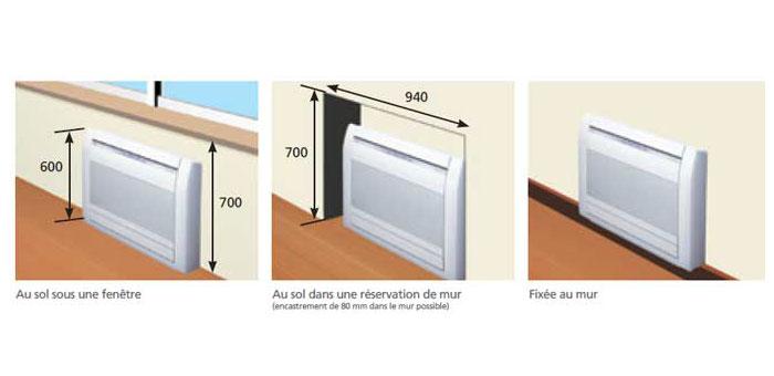 Climatisation fujitsu atlantic agyg9lvc for Installer climatiseur fenetre