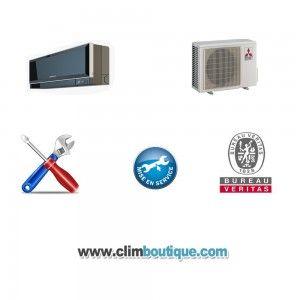 Installation climatiseur Quadrisplit
