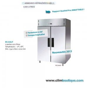 Armoire inox double positive