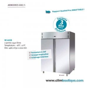 Armoire inox double negative