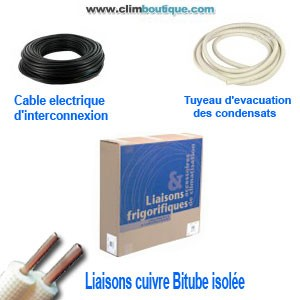 Kit d'installation standard 1/4-1/2  5 métres