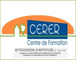 Attestation d'aptitude Cerer