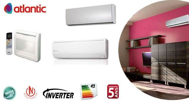 Climatiseurs Fujitsu atlantic reversible inverter
