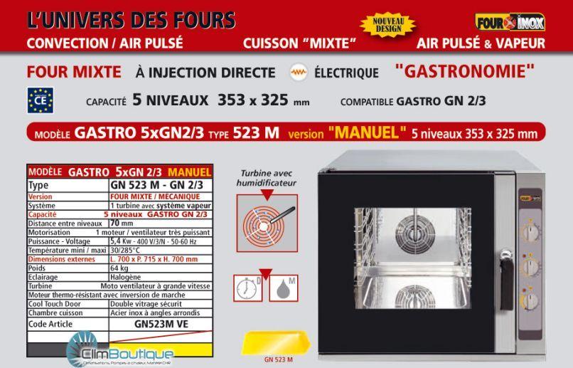 Four mixte inox pro GN523M