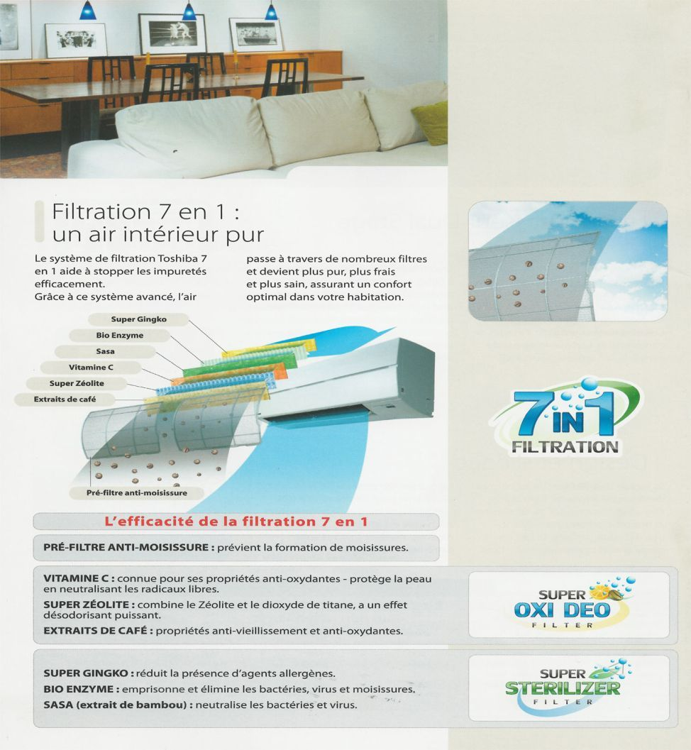 Filtration 7 en 1 Toshiba