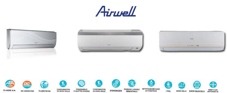 Climatiseurs mureaux Airwell
