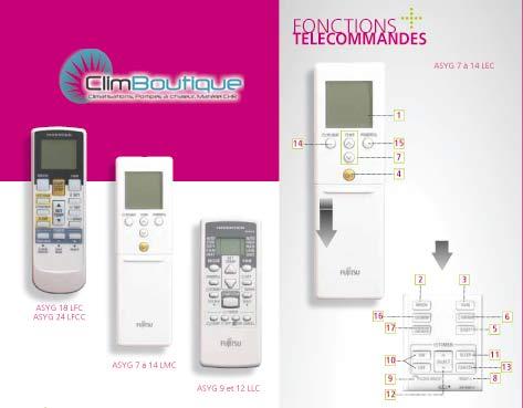 Nouvelles telecommande fujitsu atlantic mureaux