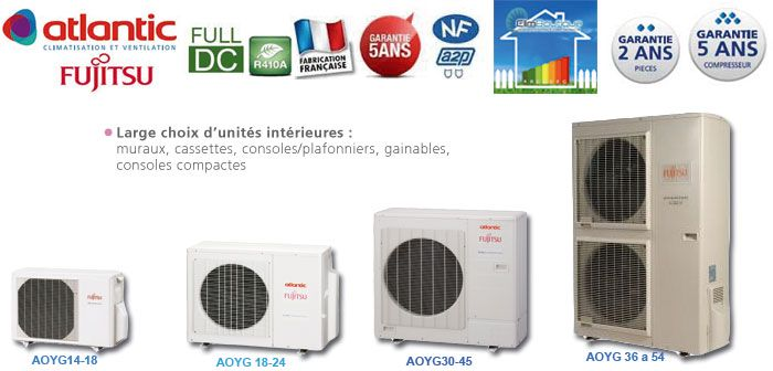 Multisplit inverter Fujitsu Atlantic