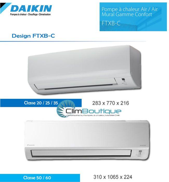 Unites interieur Daikin FTXB-C de Daikin