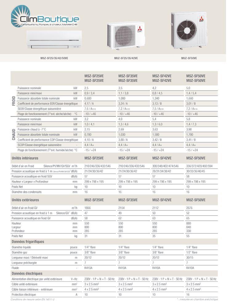 climatisation mitsubishi electric msz sf35ve3 muz sf35ve. Black Bedroom Furniture Sets. Home Design Ideas