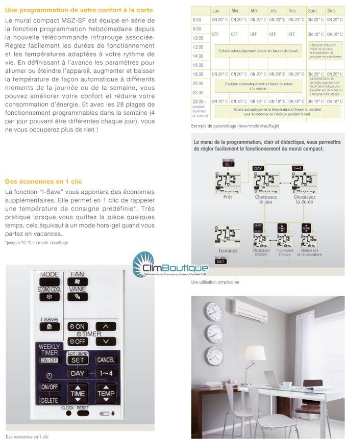 Telecommande du climatiseur  mitsubishi