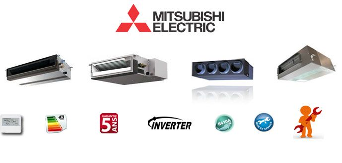 Climatiseurs gainable Mitsubishi-Eelectrique