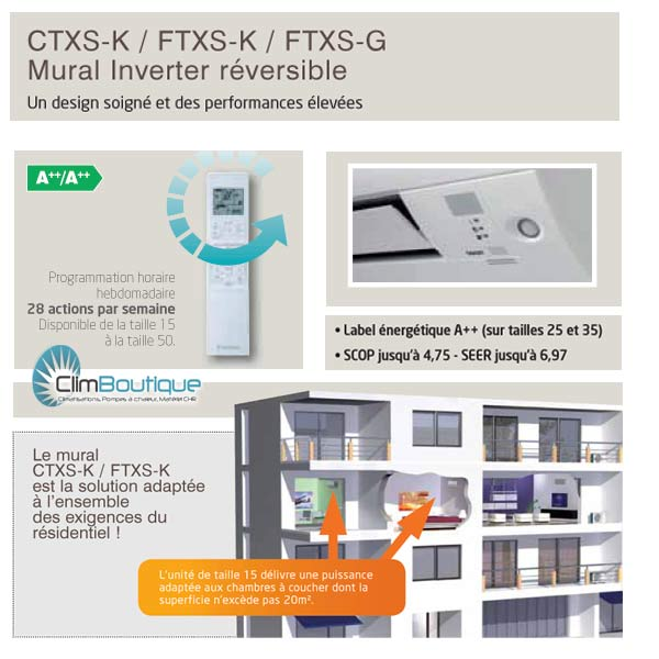 options des mureaux Daikin FTXSK